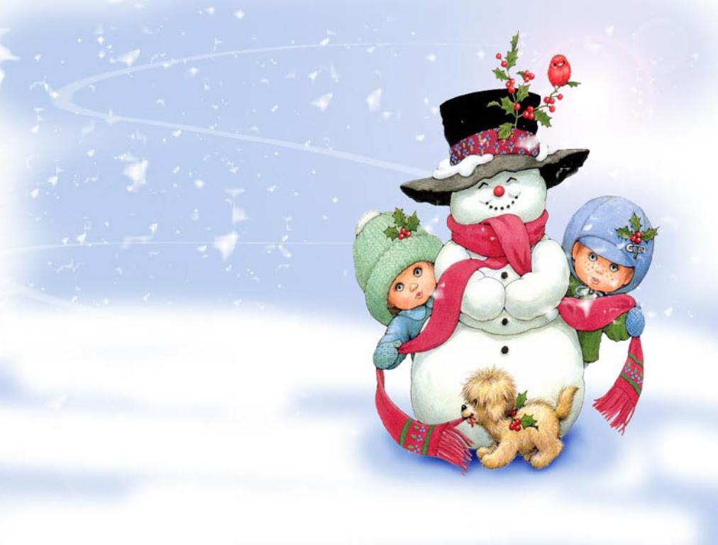 un-bonhommme-de-neige-et-ses-amis