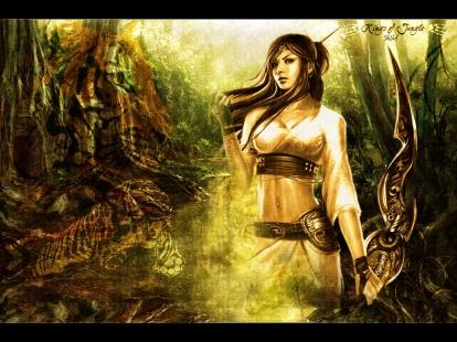 2927-femme-guerriere-dans-la-jungle-WallFizz