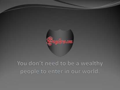 You don't need to be a wealthy people
