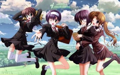Konachan.com - 41332 blush ef ef_a_tale_of_memories eyepatch hayama_mizuki minori miyamura_miyako nanao_naru seifuku shindou_chihiro shindou_kei wink