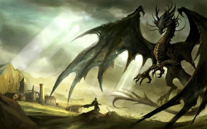 Dragon_and_Knight_desktop_backgrounds