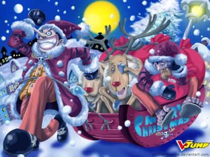 One piece - Merry Christmas by uchiha itasuke (1024 x 768)