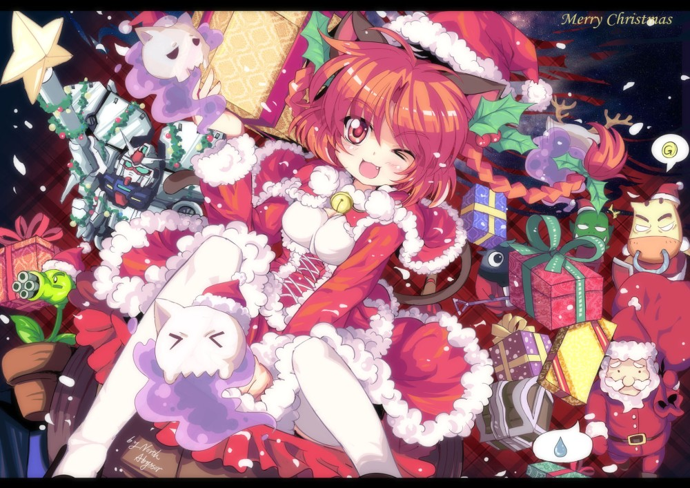 konachan-com-78486-christmas-ghost-jpeg_artifacts-kaenbyou_rin-mobile_suit_gundam-pokemon-santa_outfit-touhou-transformers-wink