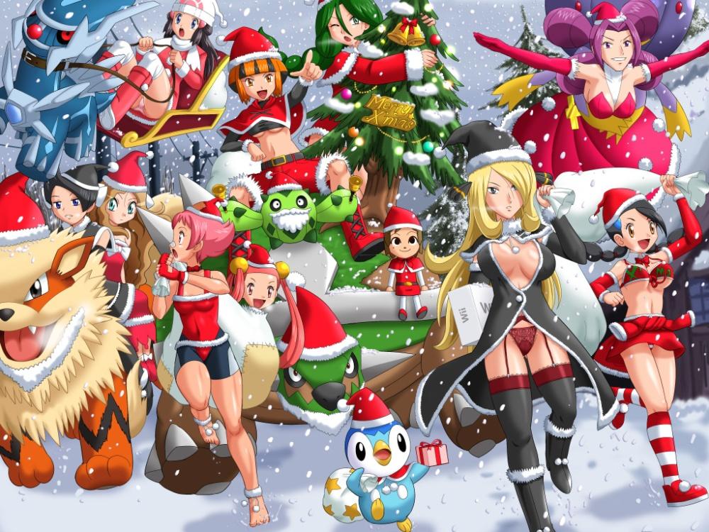 moe-52904-arcanine-cacnea-christmas-dialga-drifblim-hikari_pokemon-marley_pokemon-maylene-mira_pokemon-momi_pokemon-piplup-pokemon-soara-torterra