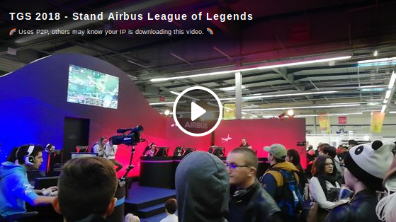 TGS 2018 - Stand Airbus League of Legends
