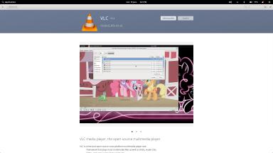 Ecran de présentation de VLC