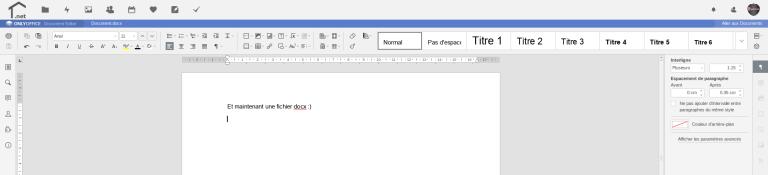 Consultation et modification de fichier .docx (Word)