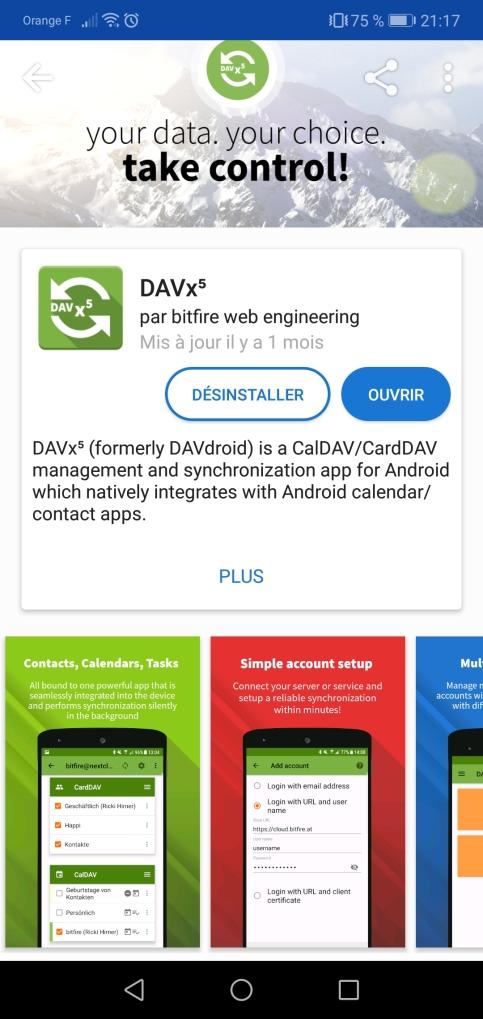 Nextcloud - DAVx5