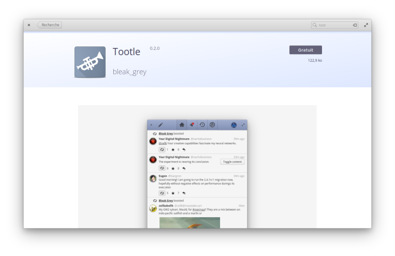 Tootle - Centre Apps