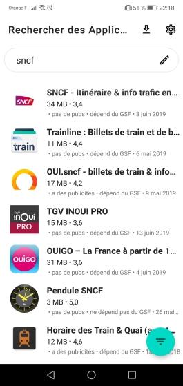 Aurora-recherche-apps