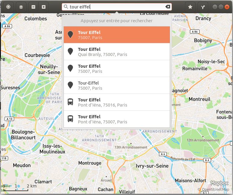 GNOME-Maps-Recherche