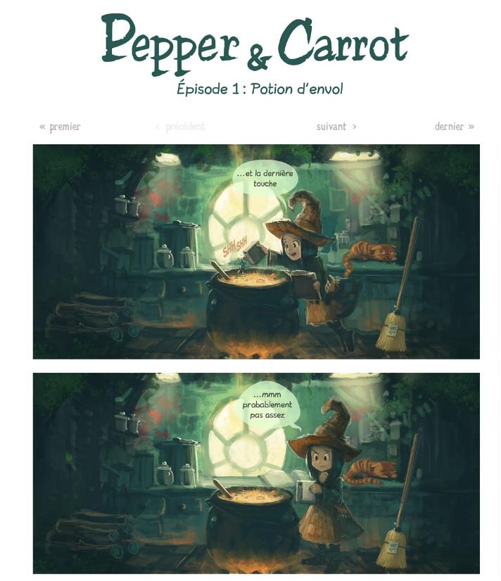 Pepper & Carrot - extrait épisode 1