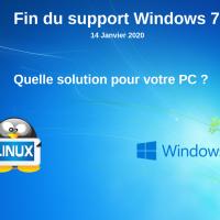 Fin du support Windows 7 !