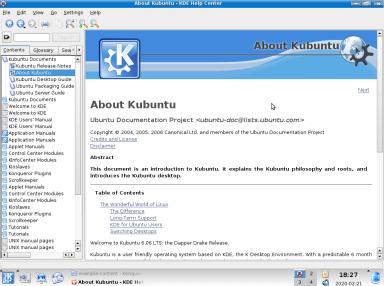 Aide Kubuntu 6.06 LTS