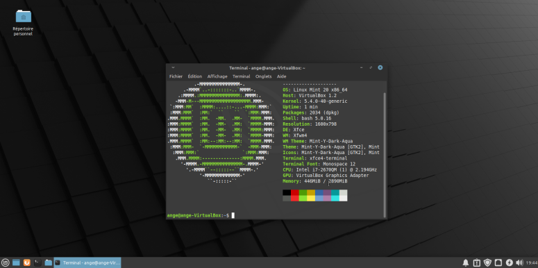 LinuxMint20-neofetch