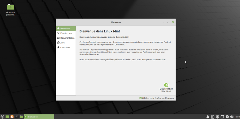 LinuxMint20-Welcome