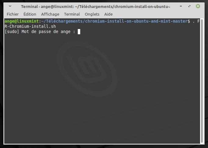 Mint-Chromium-script-terminal-sudo