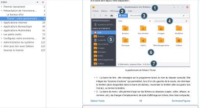 Explications sur Thunar (gestionnaire de fichiers)